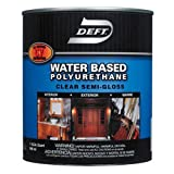 Deft Interior Exterior Water-Based Polyurethane Semi-Gloss Finish, Quart