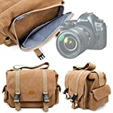 DURAGADGET Tan-Brown Large Sized Canvas Carry Bag for Hasselblad X1D Black Edition Camera