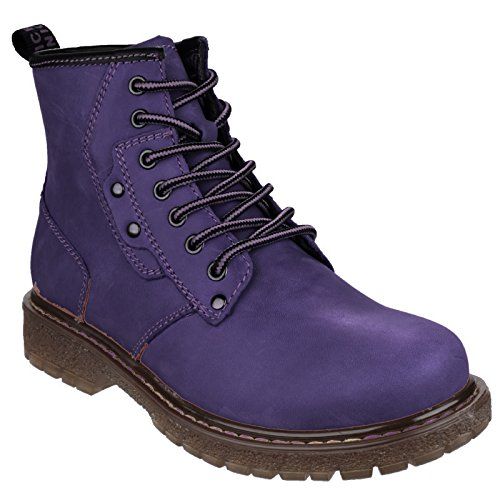 Florence Universal Boots Purple up Lace Textiles Womens Ladies Ankle n66S7x