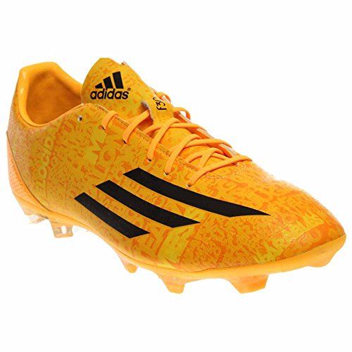 adidas Men's F30 FG Messi Soccer Cleats,10.5 D(M) US, Solar Gold/Black