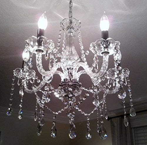 Saint Mossi Modern Contemporary Elegant K9 Crystal Glass Chandelier Pendant Ceiling Lighting fixture - 5 Lights by Saint Mossi (Image #5)'