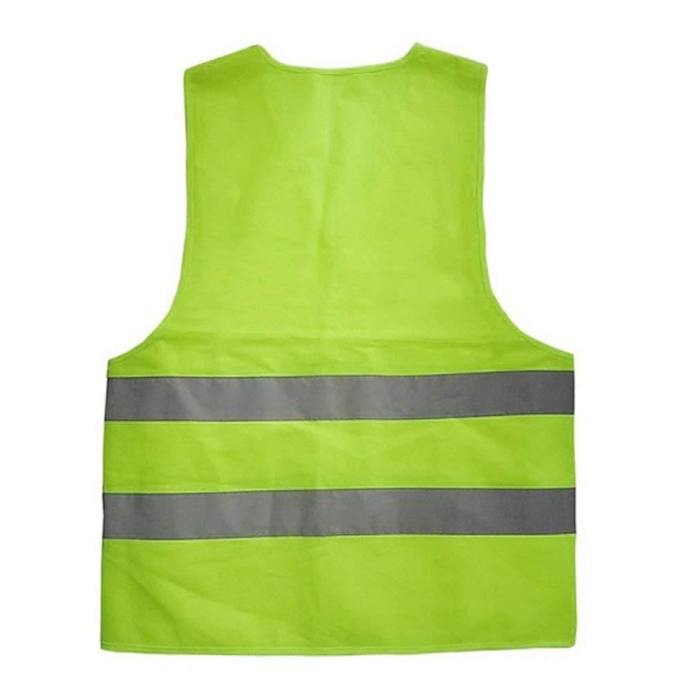 BFHCVDF Avertissement Gilet r/éfl/échissant V/êtements de Travail Gilet de Protection Haute visibilit/é Jaune XXXL