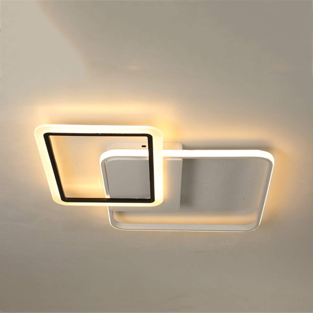 居間の天井灯のアクリルの調光対応のシャンデリアは寝室のための同じ高さの台紙の天井灯を導きました,steplessdimming,57W B07SDV441G Steplessdimming 57W
