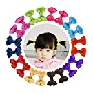 """Shemay 10 Pairs 2"""" Tiny Boutique Grosgrain Ribbon Hair Bows Alligator Clips Barrettes for Baby Girls Toddlers Kids"""