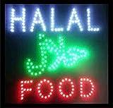 CHENXI LED Neon Animated Motion halal food restaurant shop open sign of halal food shop open sign (48 X 48 CM, C)
