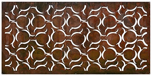 "Natural Screens by Be Metal Be ""Cannonball"" Laser Cut Decorative Steel Privacy Screen / Panel"