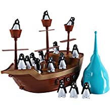Don't Rock The Boat Balance Boat Penguin Boat Pirate Boat Desktop Toys Interactive Fun Board Game Party Game Kids Toys Gifts