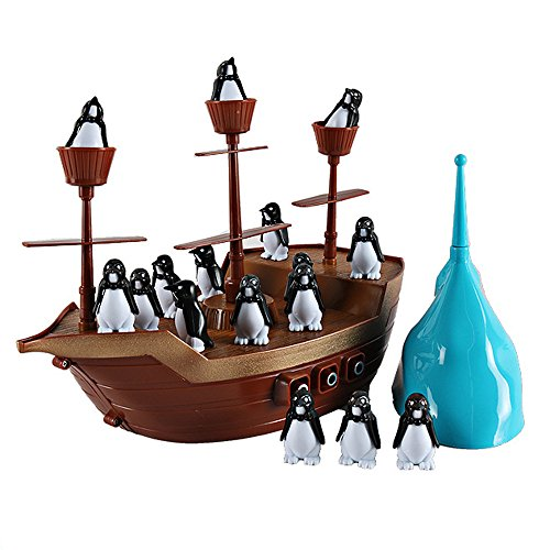 Don't Rock The Boat Balance Boat Penguin Boat Pirate Boat Desktop Toys Interactive Fun Board Game Party Game Kids Toys Gifts (Board Game Free Ship)