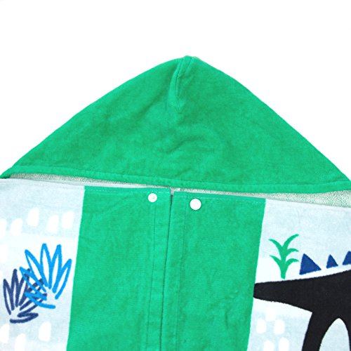 LALIFIT 100% Cotton Kids Hooded Poncho Swim Beach Bath Pool Towel for Girls/Boys(Dinosaur) by LALIFIT (Image #5)