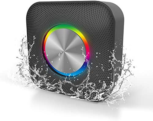 Waterproof Transportable Bluetooth Speaker with Get together Lights Helps as much as 32G TF Playing cards- Black