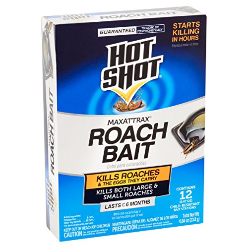12 ROACH BAIT STATIONS KILLS LARGE & SMALL ROACHES 6 Months