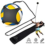 Volleyball Training Equipment Aid, Solo Practice for Serving Setting Spiking with Ease, Arm Swings Serve Spike Football Kick Trainer Gift w/ Adjustable Elastic Cord Band for Adult Kids Beginners & Pro