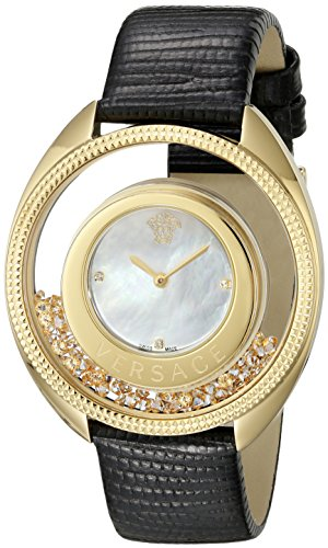 Versace Women's VQO040015 Destiny Precious Analog Display Quartz Black Watch