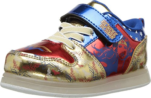 Favorite Characters Wonder Woman Motion Lighted Athletic Shoes Toddler/Little Kid (11 M US Little Kid) Gold