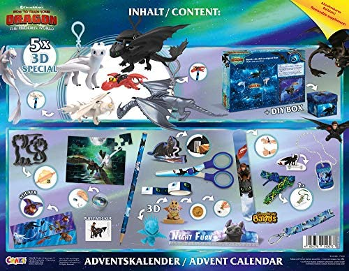 CRAZE Premium Advent 3 How to Train Your Dragon 2019 Toy Calendar for Kids at Christmas 19573 Colorful