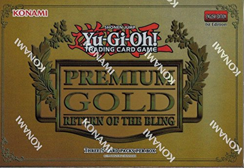 Yugioh 2015 Premium Gold Return of the Bling Series Mini-Box: 3 booster packs of 5 cards each! (2 Premium Trading Cards Box)