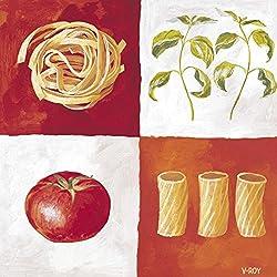 Italian Pasta Art Print Art Poster Print by Valerie Roy, 12x12