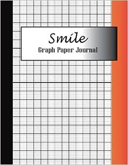 amazon smile graph paper journal 8 5 x 11 120 page large print