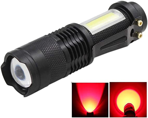 SK68+A100 Taschenlampe Tactical Flashlight Zoomable Foucus T6 LED Double Torch