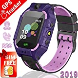 iGeeKid Kids GPS Tracker Watch,【SIM Card Edition】 Smart Watch Phone for 3-12 Years Kids Toddlers Boys Girls, 1.44′ HD Touch Screen Two-Way Call Voice SOS Game Smartwatch