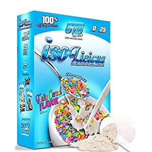 Grassfed Whey Protein Powder. Best Tasting, Low Carb Grass Fed Protein Isolate. Isolicious 1.6 lb Box Fruity Cereal Flavor