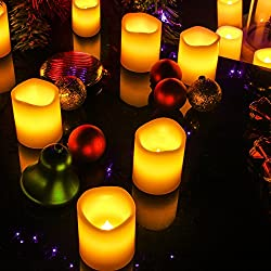 Kohree LED Votive Unscented Battery Powered Candle