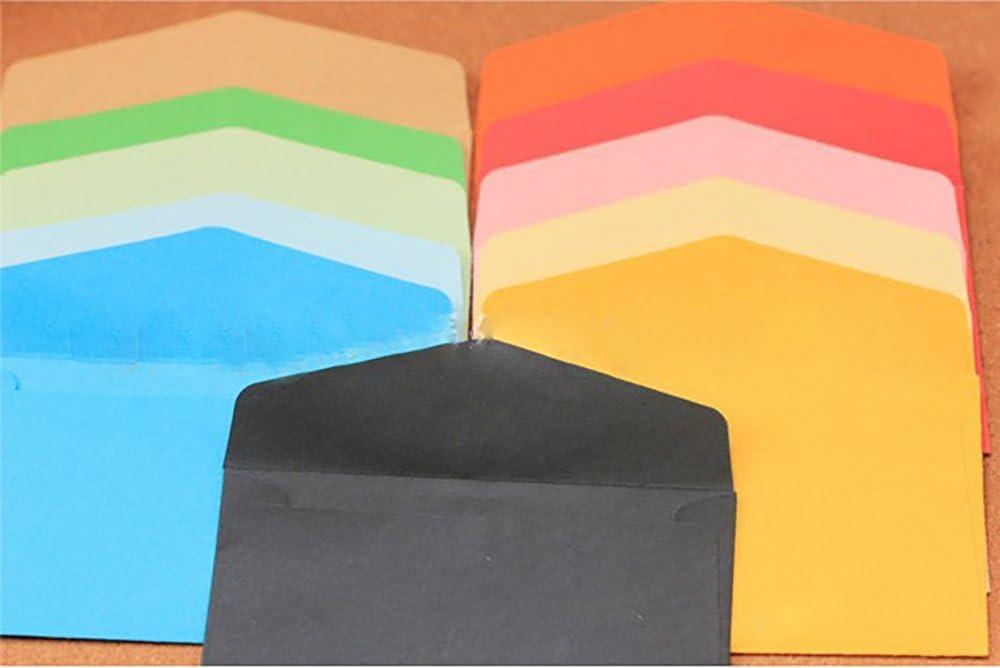 8CM Monochrome Envelope Mini Color No Print Envelope Blank Monochrome Envelope 10pcs Random Color,11.5
