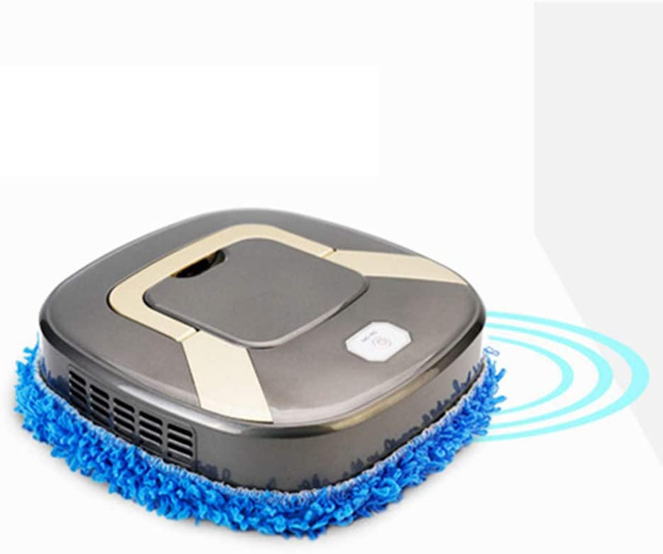 WFFH Robot automatiquesMachines Mopping Machine, Aspirateur Robot, Machine Intelligente Balayer, Laver Le Plancher Essuyage Mopping,d\'or Silver