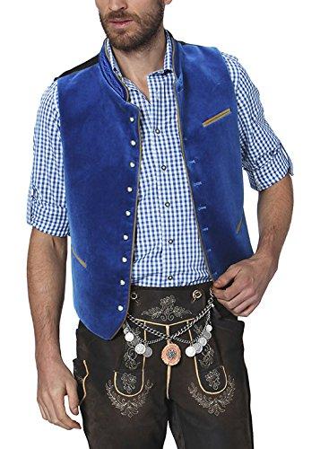 Stockerpoint Herren Trachtenweste Weste Ricardo, Blau (Royale), Large (Herstellergröße: 52)