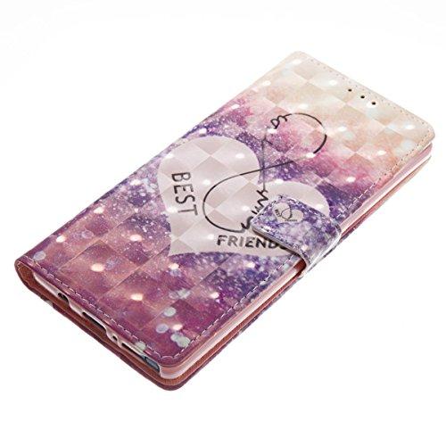Funda Samsung Galaxy Note 8, Amigo Funda Libro de Cuero Flip Cover con TPU Case Interna Para Samsung Galaxy Note 8, Wallet Case con Soporte Plegable, Ranuras para Tarjetas y Billete Amico