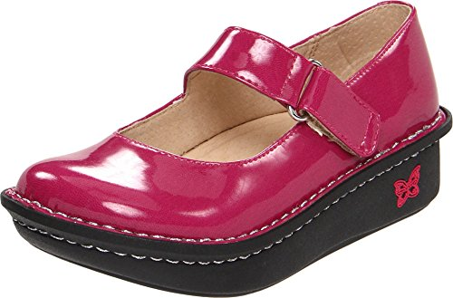 Alegria by PG Lite Youth Vinca Patent Mary Jane Shoes (Youth 13, Fuchsia Patent)