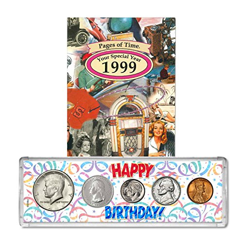 1999 Year Coin Set & Greeting Card : 18th Birthday Gift - Happy (1999 Gift)