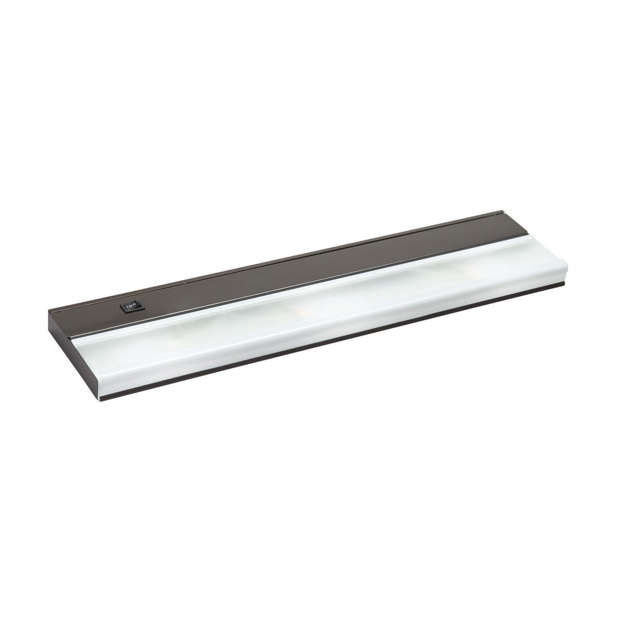 Kichler 10581BZ TaskWork Direct Wire 22IN 3LT 12V Xenon Undercabinet Light, Bronze Finish with Frosted Glass Diffuser