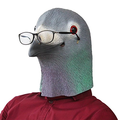 CreepyParty Novelty Halloween Costume Party Latex Animal Head Mask New Pigeon by CreepyParty