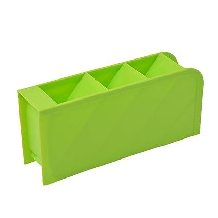 Fyore Slim Organizador de Almacenamiento Caso 4 Compartimento Bandeja de plástico Organizador Caddy Caja para Manualidades