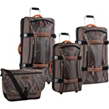 Timberland Luggage Twin Mountain 4 Piece Wheeled Duffle Set, Cocoa, One Size