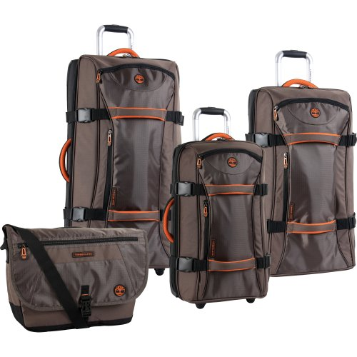 Timberland Luggage Twin Mountain 4 Piece Wheeled Duffle Set, Cocoa, One Size by Timberland