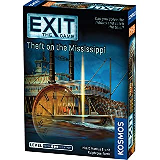 Thames & Kosmos EXIT: Theft on The Mississippi | Escape Room Game in a Box| EXIT: The Game – A Kosmos Game | Family – Friendly, Card-Based at-Home Escape Room Experience for 1 to 4 Players, Ages 12+