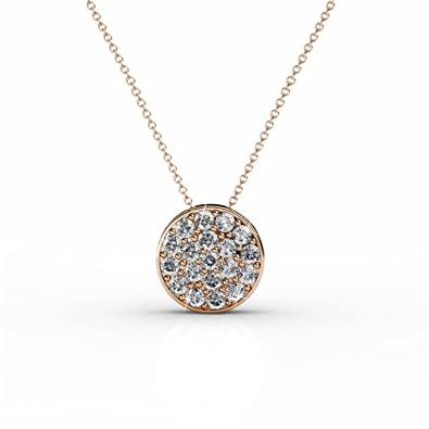 c294f2f489d Amazon.com: 18K White Gold Swarovski Elements Necklace with Crystal ...
