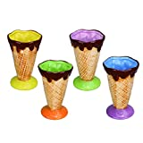 Product review for Kivvo Personalized Ice Cream Cup Ceramic Party Dessert Bowls Triffle Dishes Pack of 4
