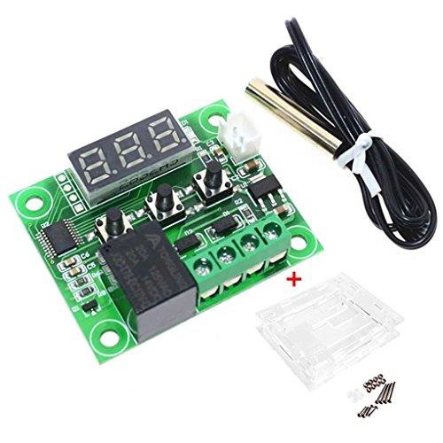 Price comparison product image MuLuo W1209 12V DC Digital LCD -50-110 Range Thermostat Temperature Control Switch Sensor Module Case