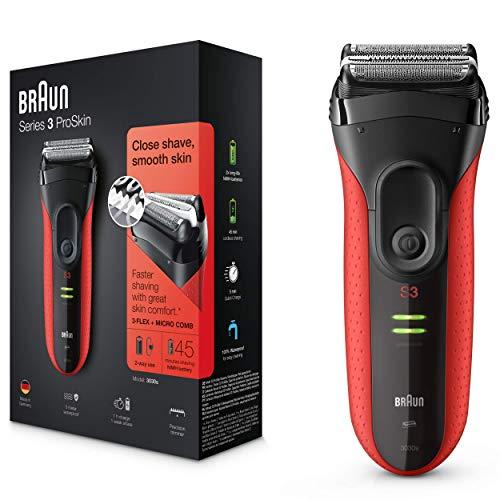 Braun Series 3 ProSkin 3030 S Afeitadora Eléctrica Hombre, para la Barba, con Recortadora de Precisión Extraíble…