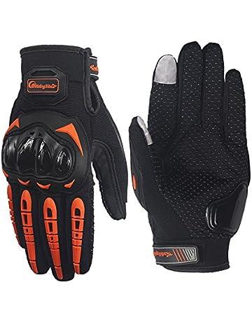 508048750cb ARTOP Guantes Moto Verano Anti-Deslizante Anti-Colisión con Dedo Táctil Muy  Buena Protección