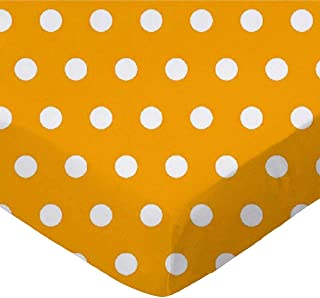 product image for SheetWorld Fitted Bassinet Sheet - Polka Dots Gold - Made In USA