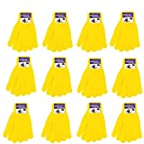 Winter Gloves Magic Gloves Wholesale 12 Pairs- One Size Fits All (Yellow)