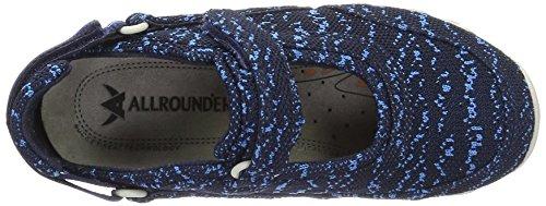 Allrounder by Mephisto Niro Seamless, Zapatillas de Deporte Exterior para Mujer Blau (Indaco)