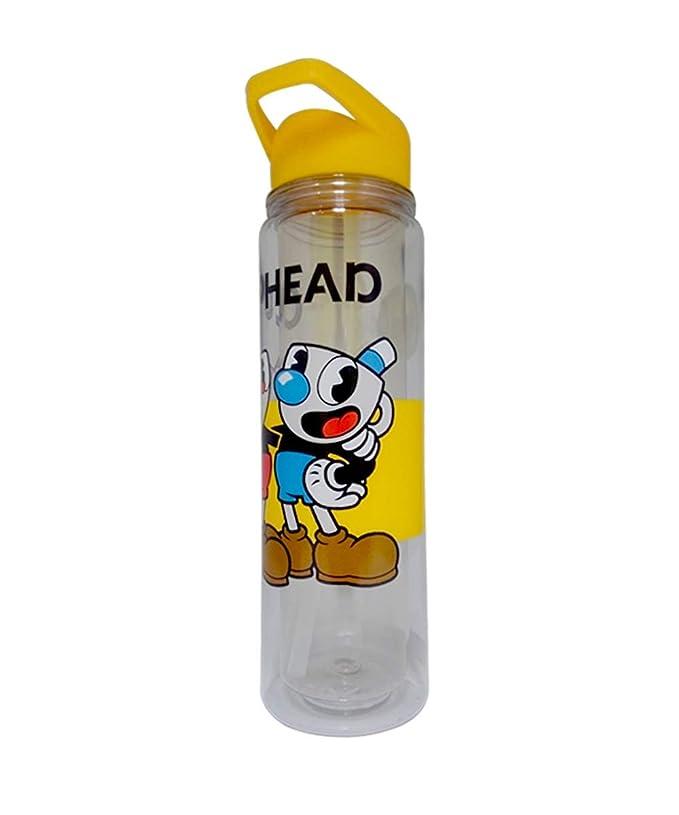 Amazon.com: JUST FUNKY - Botella de agua con tapa amarilla y ...