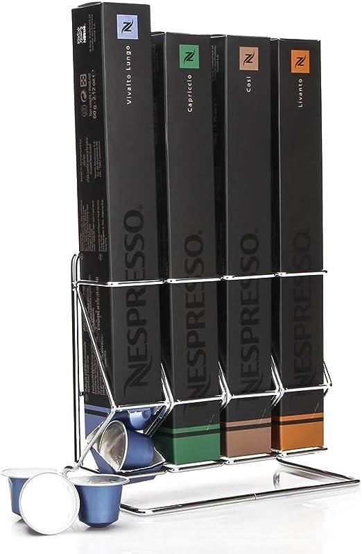 Soporte para cápsulas de café compatible con cápsulas Nespresso, soporte para cápsulas de acero de Attom Tech Home: Amazon.es: Hogar