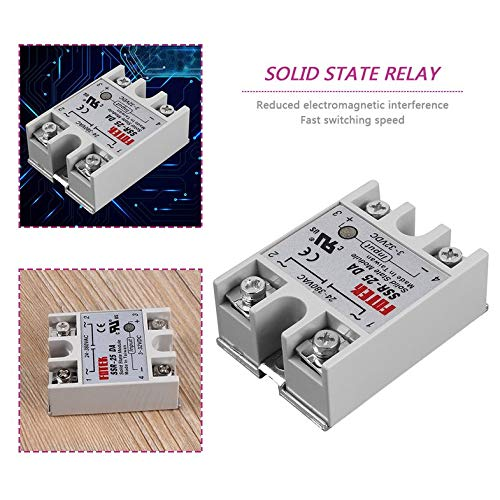 ouying1418 Solid State Relay Module SSR-25DA 25A //250V 3-32V Input 24-380VAC Output