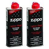 Zippo 494 Lighter Fluid 4 oz (2 Pack), Black